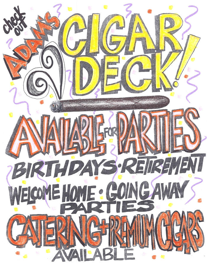 cigar deck available for parties, events